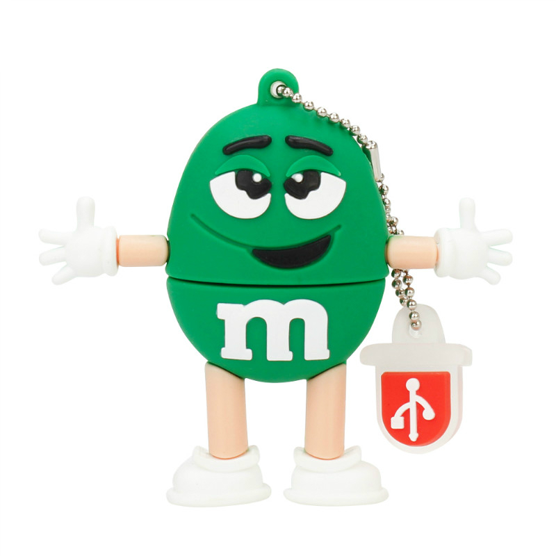 Image 5 - New Chocolate M&M USB Flash Drive 32GB 64GB 128GB Pen Drive 16GB Flash Memory U Disk 8GB 4GB High Quality Pendrive Free Shipping-in USB Flash Drives from Computer & Office