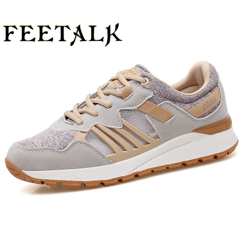 Feetalk women running shoes for women sneakers Athletic walking shoes woman breathable sport shoes zapatillas deportivas mujer hot new 2016 fashion high heeled women casual shoes breathable air mesh outdoor walking sport woman shoes zapatillas mujer 35 40