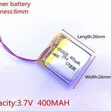 3,7 в 400 мАч 602525 602626 плиб полимерный литий-ионный/литий-ионный аккумулятор для смарт-часов gps
