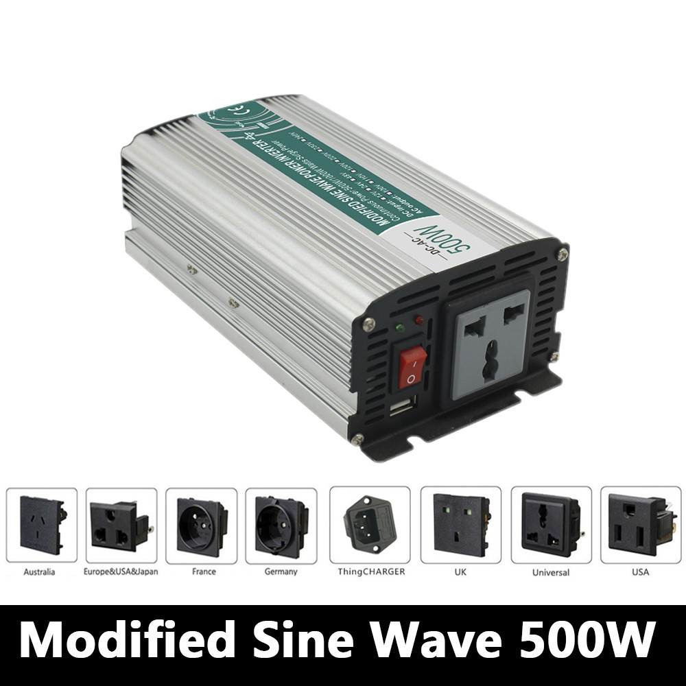 500W Modified sine wave inverter,DC 12V/24V/48V to AC 110V/220V,off grid inversor,solar power invertor,Converter 12v to 220v boguang 110v 220v 300w mini solar inverter 12v dc output for olar panel cable outdoor rv marine car home camping off grid