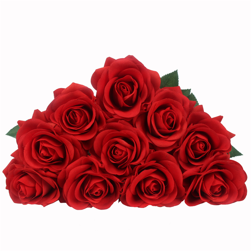 JAROWN Artificial Real Touch Hand Feel Rose Flowers For Valentine`s Day Preparation Wedding Decoration Home Decor (33)