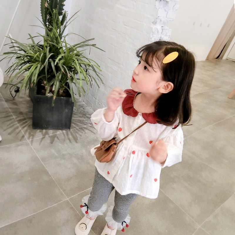 Top Venda Moda Kid Pano Meninas de Natal Das Crianças Morango Manga Longa Impresso Lotus Folha Vestido de Princesa Outfits Roupas