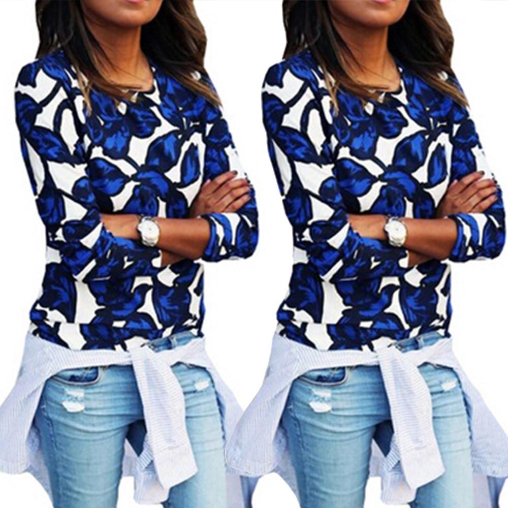 Sports Women Macaron Floral Wing Pattern Print Sweatshirt -3495
