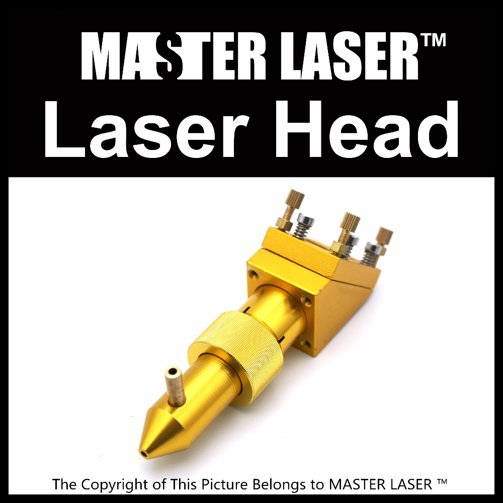 MASTER LASER CO2 Gold Laser Head for Focus Lens Dia 18mm FL.50.8 mm Mirror 19/20mm Mount for Laser Engraving Cutting Machine high quality co2 laser cutting head for focus lens dia 20 fl 50 8 63 5 101 6mm