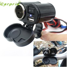 New Arrival Motorcycle 12V Car ATV Boat Cigarette Lighter With Switches USB Charging Apl7(China)