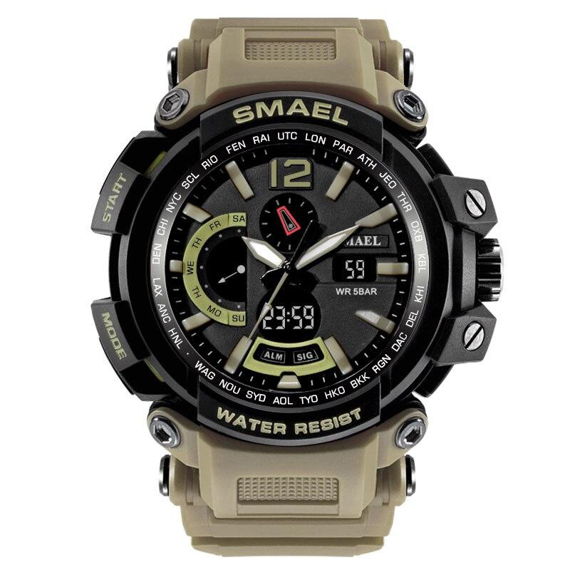 Smael Heißer Verkauf Mode Männer Uhr Led Dual Display Digital Elektronische Sport Handgelenk Uhren Hohe Qualität Männer Uhr Reloj Hombreaa4 Waren Des TäGlichen Bedarfs Uhren