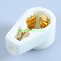 2pcs GOLD Plate Tube Caps 811 805 572B 813 Ceramic Socket Tube Amplifier