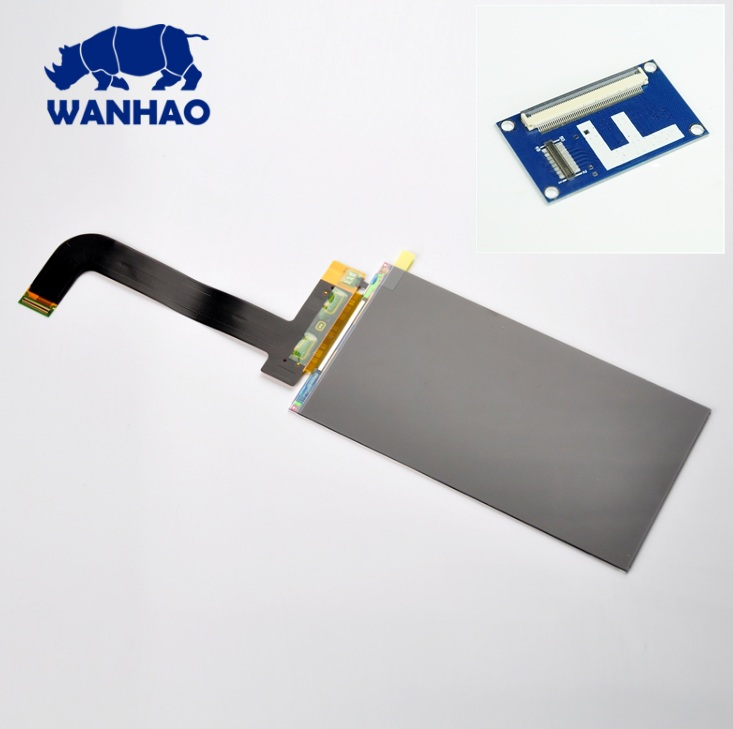 Original Spare Parts LCD for 3D printer Wanhao Duplicator 7 with free display drive pinboard цена