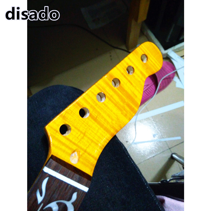 disado 21 22 Frets tiger flame maple Electric Guitar Neck rosewood fretboard glossy paint guitar accessories can be customized wilkinson guitar accessories st electric guitar three single coil pickup all colors can be customized real photos free shipping