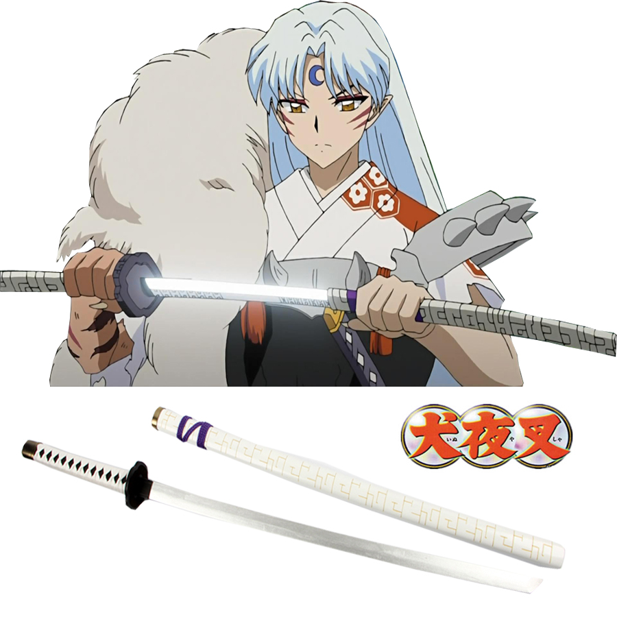 Free Shipping Inuyasha Sesshomaru Blasting Broken Teeth Wooden Sword