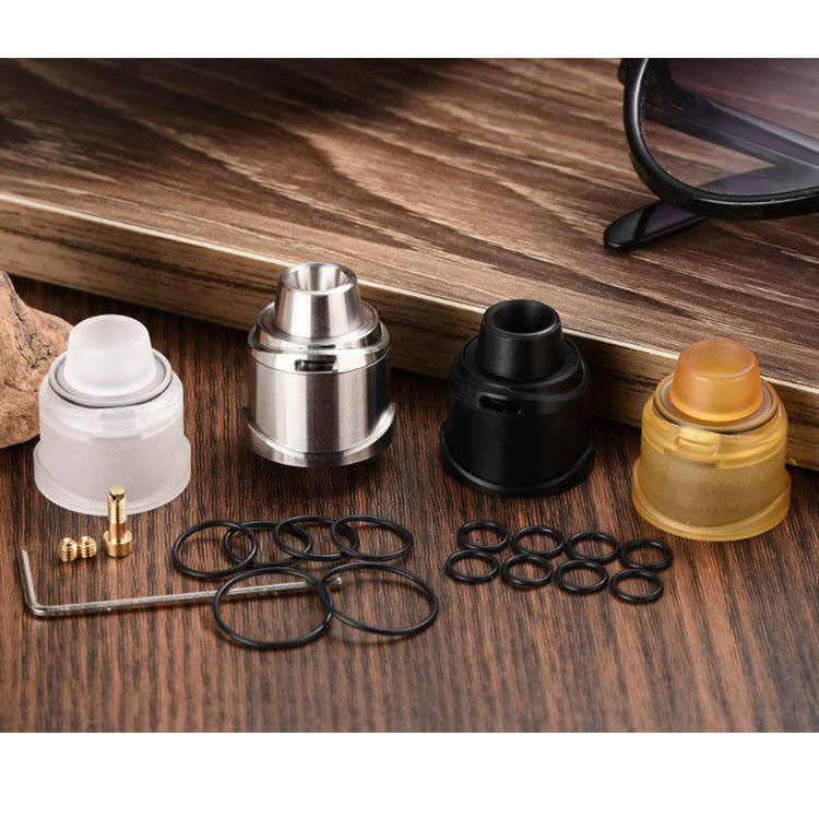 5GVAPE Freedom rda atomizer 22mm DIY dripper squonk mtl rda bf vape tank  single coil atomizador with 3 extra caps