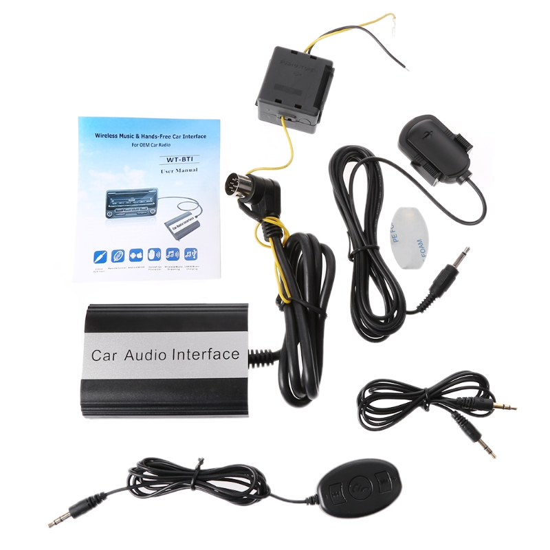 OOTDTY kit mains libres Bluetooth pour voiture Interface adaptateur MP3 AUX pour Volvo hu-series C70 S40/60/80 V40 V70 XC70