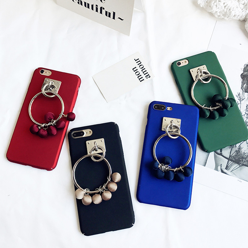 new arrival fashion Cloth circle pendant Pendant cell cover for apple iphone 6 6s plus 5.5 iPhone7 7P hard PC mobile phone Case