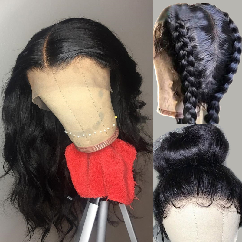 Atina Glueless PrePlucked Full Lace Wig For Black Women Remy Brazilian Body Wave Human Hair Wigs With Baby Hair Natural Hairline