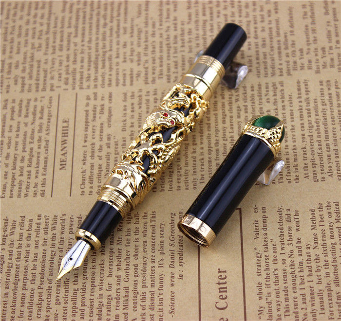 JINHAO fountain pen unique design High quality dragon pens luxury business gift school office supplies send father friend 001 ballpoint pen school office supplies cute animal roller ball pens high quality kawaii birthday business gift send children 001