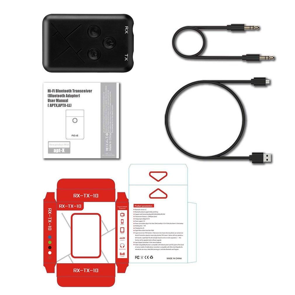 Tragbares Audio & Video Funkadapter Verantwortlich 2 In 1 Wireless Bluetooth Sender Empfänger Adapter Stereo Audio Musik Adapter Mit 3,5mm Audio Kabel/usb Lade Linie Df Vertrieb Von QualitäTssicherung