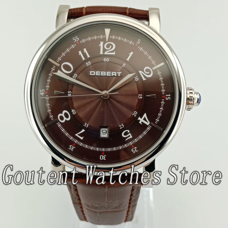10 types New 43mm Debert Stainless Steel Case Automatic Mens Wrist Watch