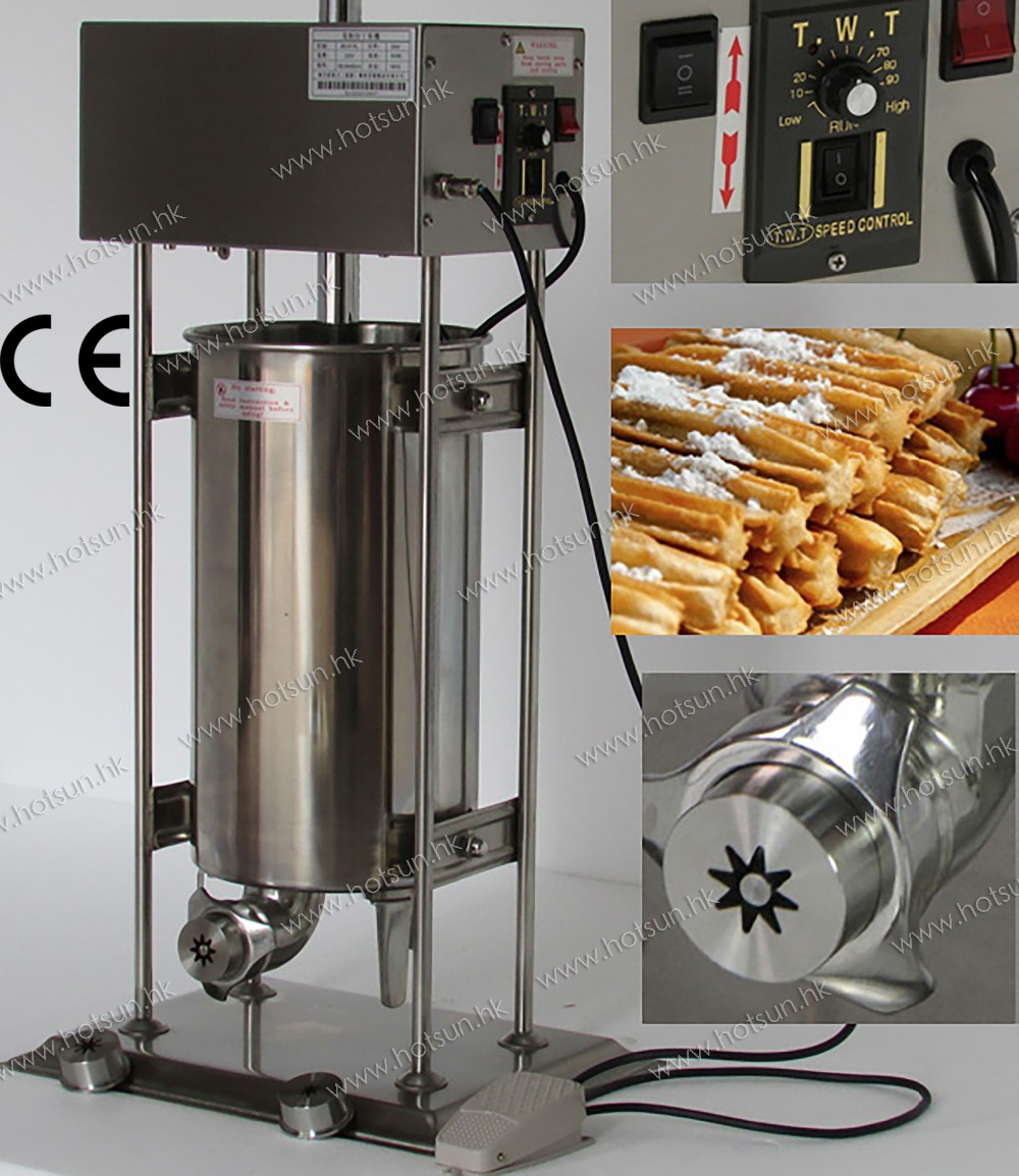 2 in 1 15L Electric Auto Spanish Churros Machine + 6L Electric Deep Fryer salter air fryer home high capacity multifunction no smoke chicken wings fries machine intelligent electric fryer