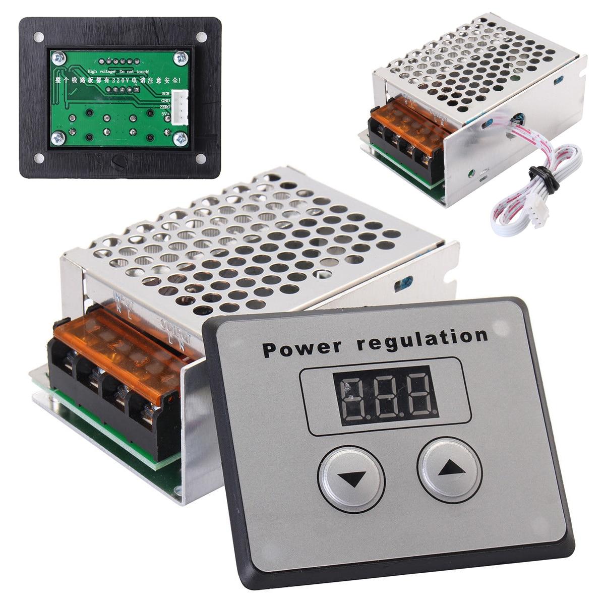 Mayitr SCR Spannung Regler Dimmer 4000 watt 220 v AC Power Regler Elektrische Motor Speed Controller Thermostat für Kleine Motoren