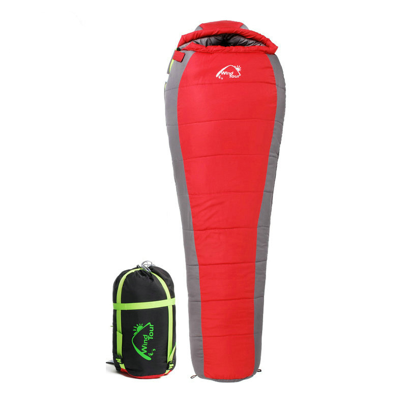 High Quality -5 Winter Mummy Type Thermal Warm Adult Cotton Sleeping Bag for Outdoor Camping Adventure Family Home Sleeping Bag nh sleeping bag adult outdoor winter thermal winter thickening thermal autumn and winter cotton sleeping bags single double