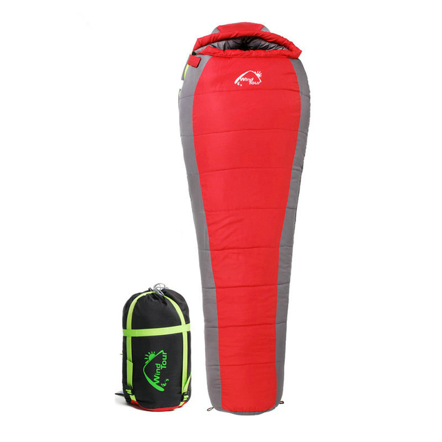 Wind Tour-5 Winter Adult Cotton Sleeping Bag Mummy Type Thermal Three Seasons Outdoor Camping Adventure Family Home Sleeping Bag