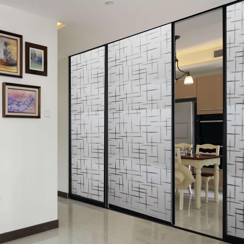 3D Bathroom Bedroom Frosted Etched Window Film Privacy Door Glass Sticker 200cm