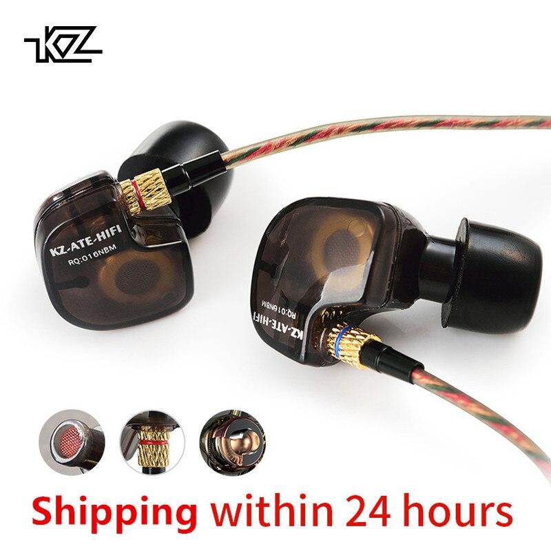 KZ ATES MANGÉ RTA HD9 Cuivre Pilote HiFi Sport Casque Dans L'oreille Écouteurs Pour La Course Avec Microphone