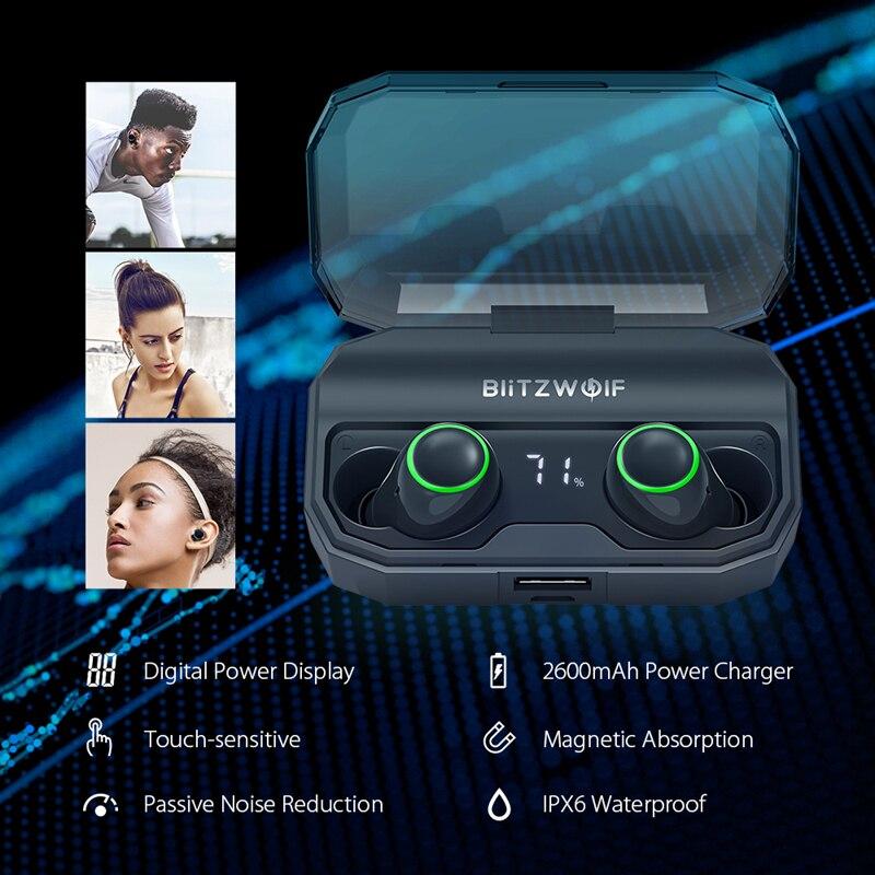 BlitzWolf FYE3S TWS 真のワイヤレス Bluetoot 5.0 イヤホン表示スマートタッチ二国間ヘッド充電ボックス  グループ上の 家電製品 からの 電話用イヤホン & ヘッドホン の中 3