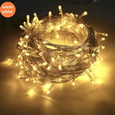 Струнный светильник 100 светодиодный 10 м Рождественский/свадебный/вечерние декоративный светильник s гирлянда AC 110 В 220 В Уличный Водонепроницаемый светодиодный светильник 9 цветов светодиодный - Испускаемый цвет: Тёплый белый