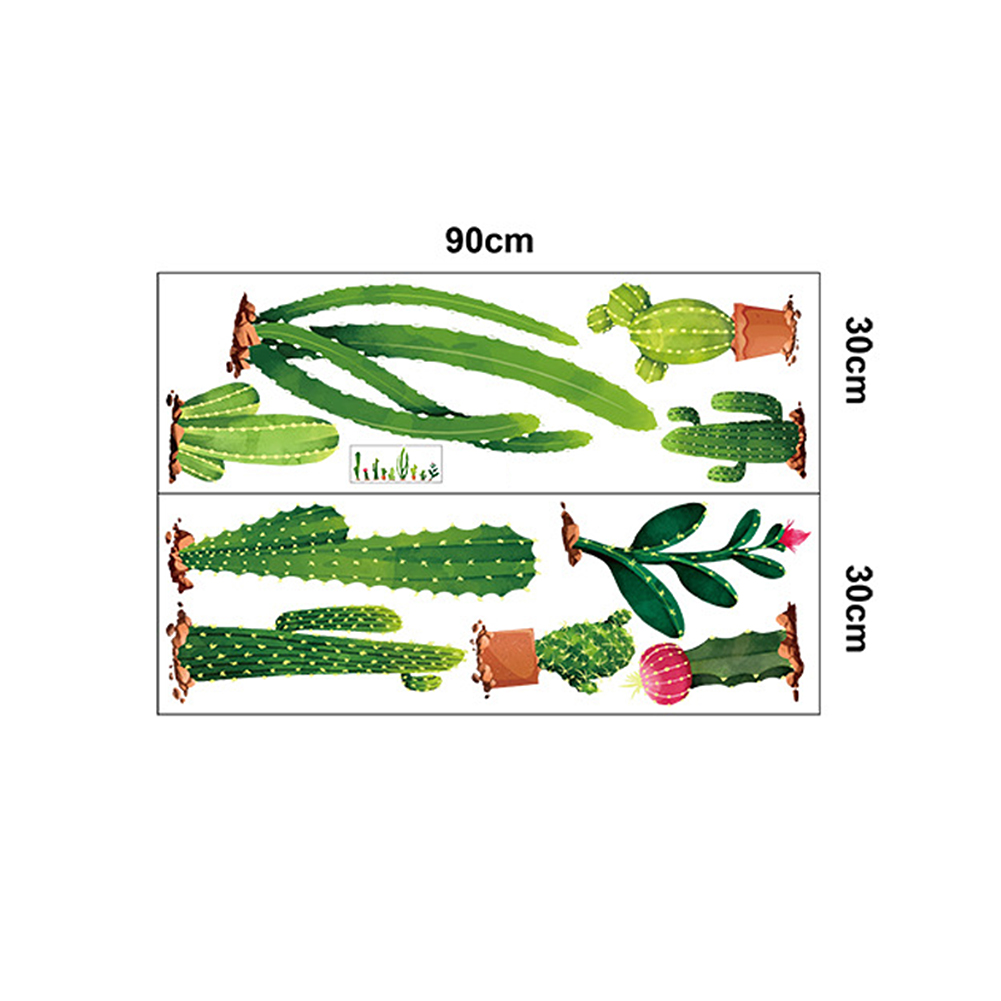 CACTUS DIY BACKGROUND WALL STICKER LIVING ROOM BEDROOM CUPBOARD HOME DECOR ALL