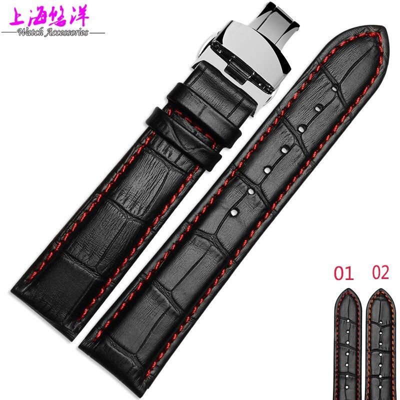 47b4e37ac233 Reloj de cuero con una pulsera de cuero 22mm M005 adaptador macho timonel  relojes Accesorios