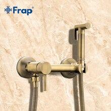Frap ビデ真鍮の浴室のシャワータップビデトイレスプレートイレの洗浄機ミキサー教徒のシャワー ducha higienica トイレの蛇口