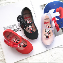 Mini Melissa Sandals 2019 New Summer Mickey & Minnie Twins Pattern Shoes Jelly Shoe Girl Non-slip Kids Sandal Toddler