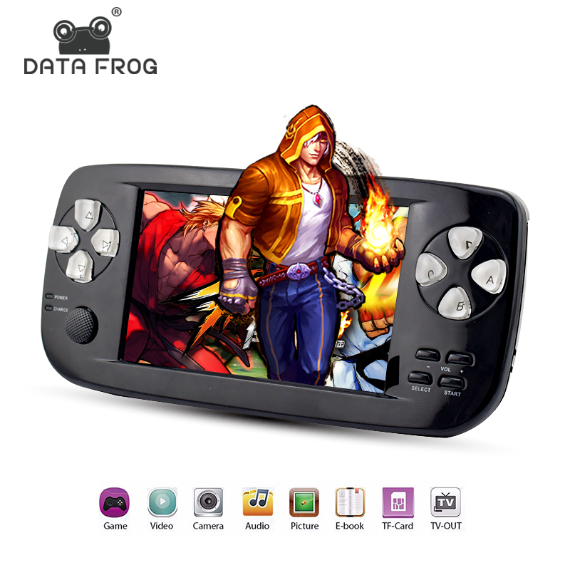 Data Frog 4.3 Inch HD Game Console 32 Bit Portable Handheld Game Player PAP KIII For GBC/CP1/NEO/GEO Format 500+ Inner GameData Frog 4.3 Inch HD Game Console 32 Bit Portable Handheld Game Player PAP KIII For GBC/CP1/NEO/GEO Format 500+ Inner Game