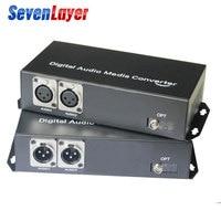 2ch Balanced XLR audio to fiber optic Transceiver and Receiver balanced audio over fiber audio Digital fiber media converter