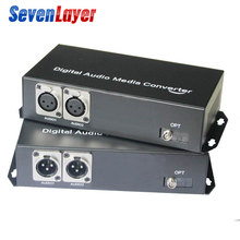 2ch Balanced XLR audio to fiber optic Transceiver and Receiver balanced audio over fiber audio Digital fiber media converter цены онлайн