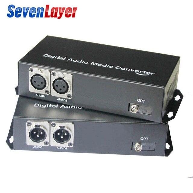 2ch dengeli XLR ses fiber optik alıcı verici ve alıcı üzerinden dengeli ses fiber ses dijital fiber ortam dönüştürücü