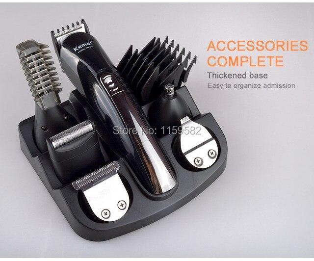 Kemei 600 6 in 1 hair trimmer titanium hair clipper electric shaver beard trimmer men styling tools shaving machine cutting