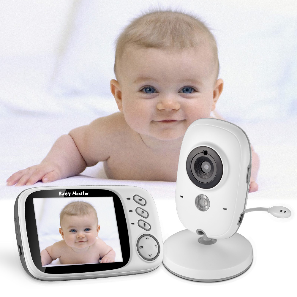 LCD Infant Wireless Monitor Night Vision Digital Video Baby Monitor Audio Music Camera Temperature Temperatering Nanny Monitor wireless nanny video baby monitor camera lcd electronica night vision ir temperature smart audio monitor bebe