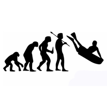 20*10cm History of Human Evolution Bodyboard Surfing Image Funny Man Car Sticker Truck Bumper Decor Vinyl Decal