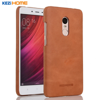 For Xiaomi Redmi Note 4 Case Frosted Genuine Cow Leather Hard Back Case Cover For Xiaomi