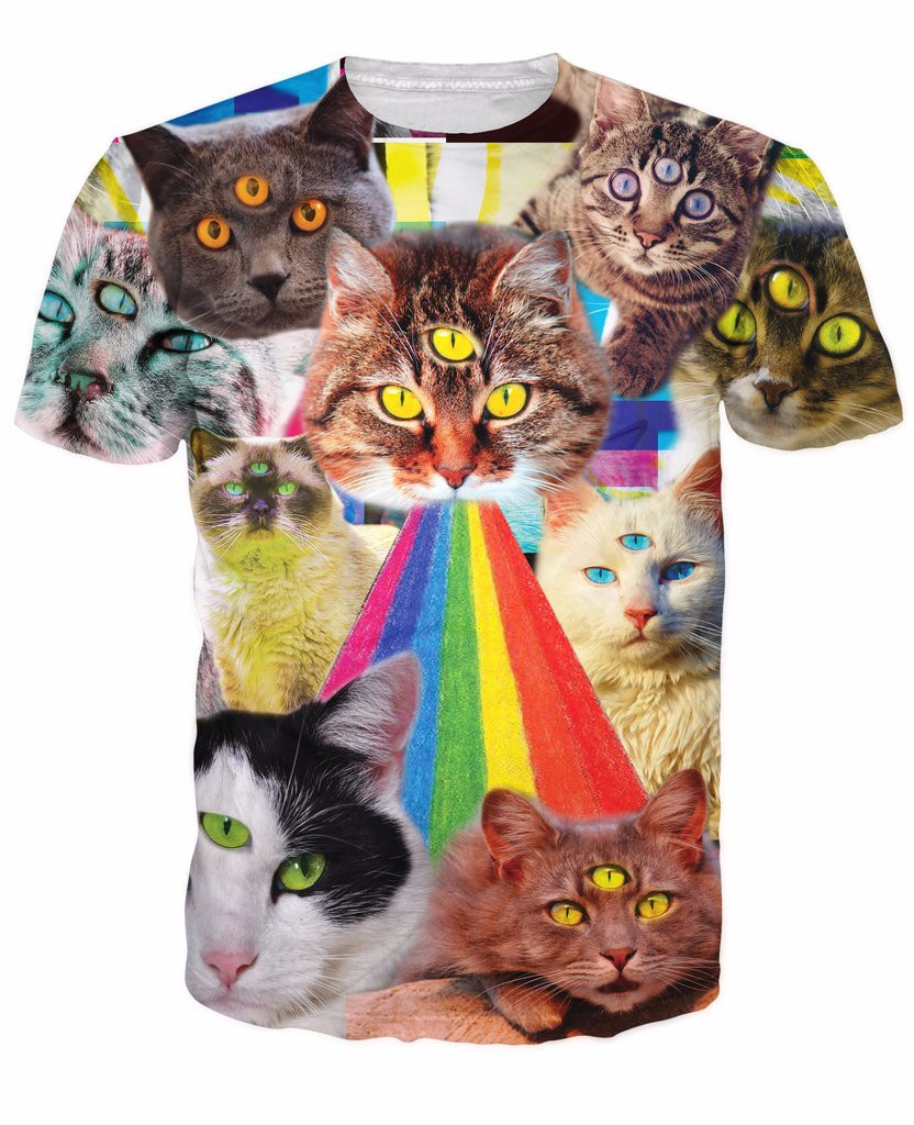 NEVTS0001U_Three_Eye_Cat_Rainbow_Vomit_Collage_Mockup_1024x1024