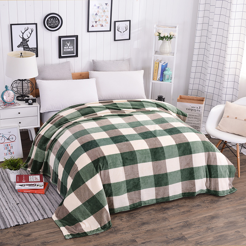 Hot Sale Flannel fleece Soft Plaid Blanket Multifunction blankets Portable thin Plaids Throws on Sofa/Bed/Plane/Car