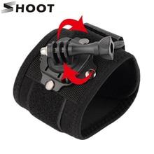 360 Degree Rotation Action Camera Wrist Strap Mount for GoPro Hero 5 3 4 Session Hero5 Xiaoyi Yi SJ4000 SOOCOO Go Pro Accessory
