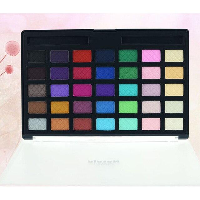 35 Colores de Maquillaje Profesional Paleta de Sombra de ojos Para Las Mujeres Ojo compone el sistema de Cepillo de Sombra de Ojos Shimmer Pigmento Luminoso