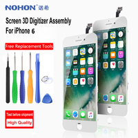 NOHON AAA+++ 3D Touch Screen For Apple iPhone 6 6S 7 8 LCD Display Screen Digitizer Assembly With Frame No Dead Pixel Free Tools