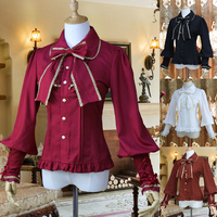 Vintage Lolita Shirt Long Sleeve Women Top Shirt Chiffon Elegant Female Gothic Blouse Summer Shirt Many Color