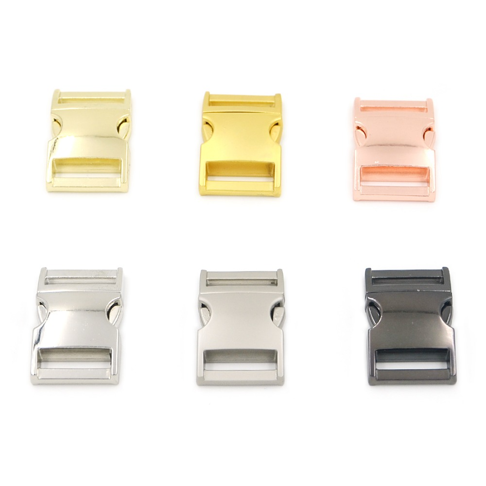 6pcs 20mm Mix 6 Colors Metal Release Buckles Clasps For Paracord Backpack Webbing Bracelets
