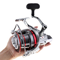 sales Full Metal Spinning Fishing Reel 12000 Series 14+1 Ball Bearing Long Distance Surfcasting Wheel with Larger Spool