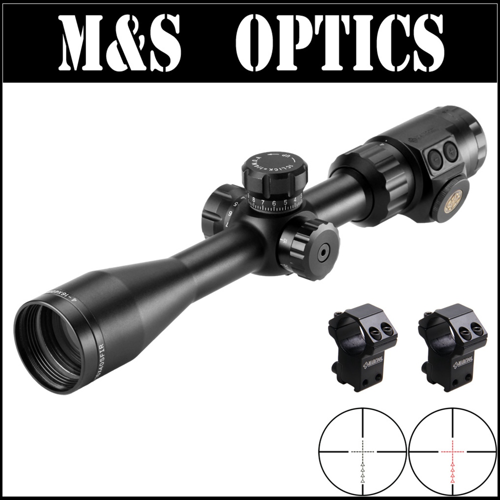 MARCOOL ALT 4-16X40 SFIRL Red Dot Illuminated Optical Sight Tactica Riflescope Hunting Rifle Scope For Rifles marcool alt za3 5 25x56 sfir riflescope